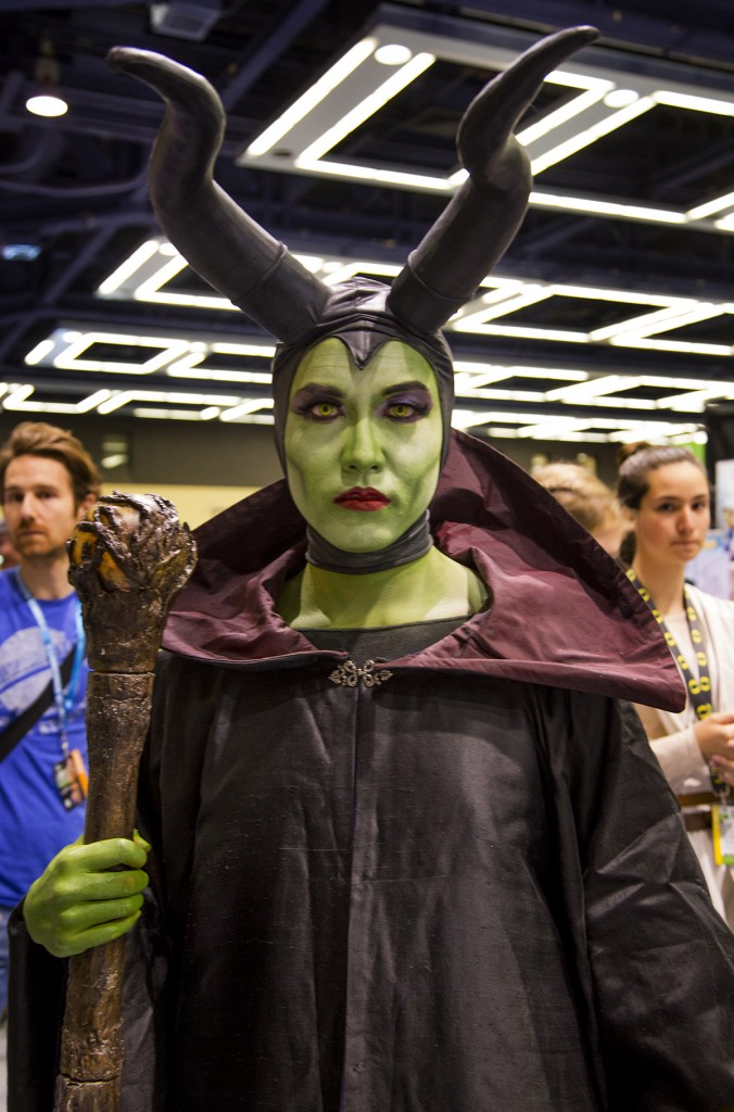 Melificient cosplayer at Emerald City Comicon 2016 in Seattle, WA.