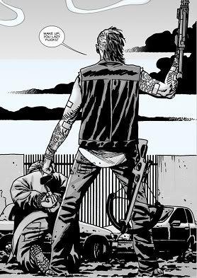 Walking dead comic book characters