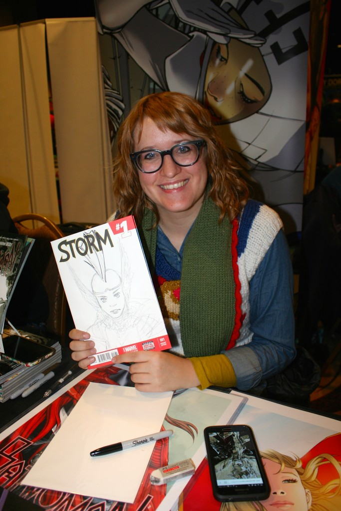 Comic book artist Amy Reeder