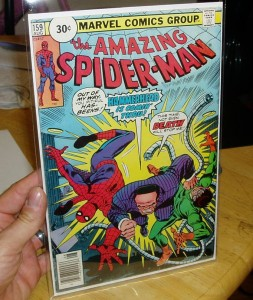 The 30 cent price variant cover of The Amazing Spider-Man from deAngelini's collection. Photo courtesy of Eddie deAngelini.