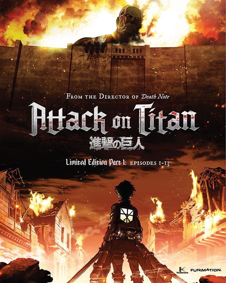 Shorewood Blu-ray Ocard attack on titan
