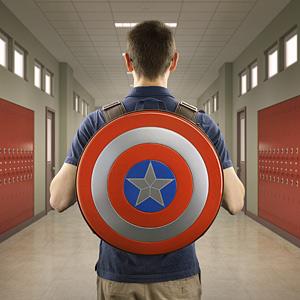 Captain America backpack by ThinkGeek.
