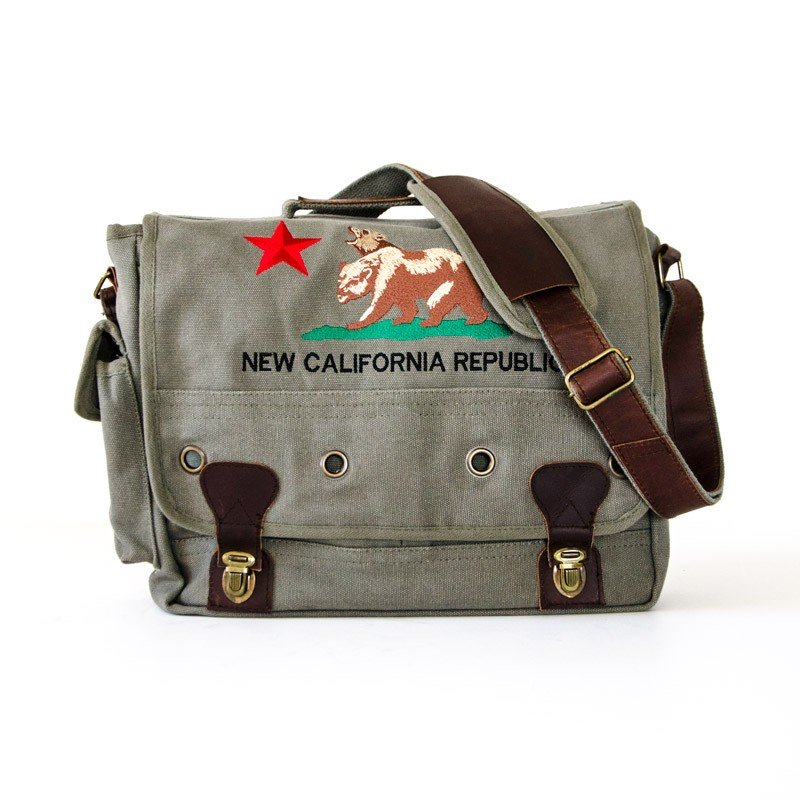 New California Republic Fallout Messenger and Laptop Bag.