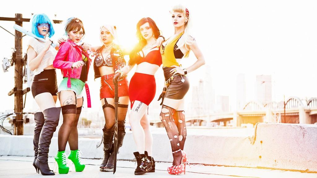 sailor moon biker cosplay group 3