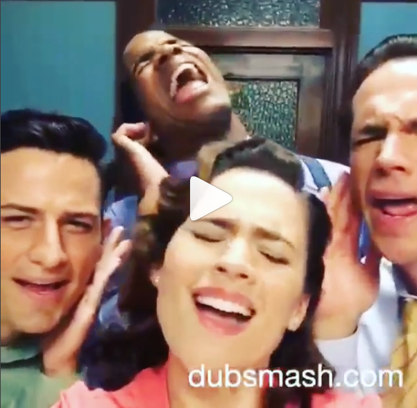 Agent Carter Cast Becoming Unstoppable Dubsmash Videos Too Powerful The Gce