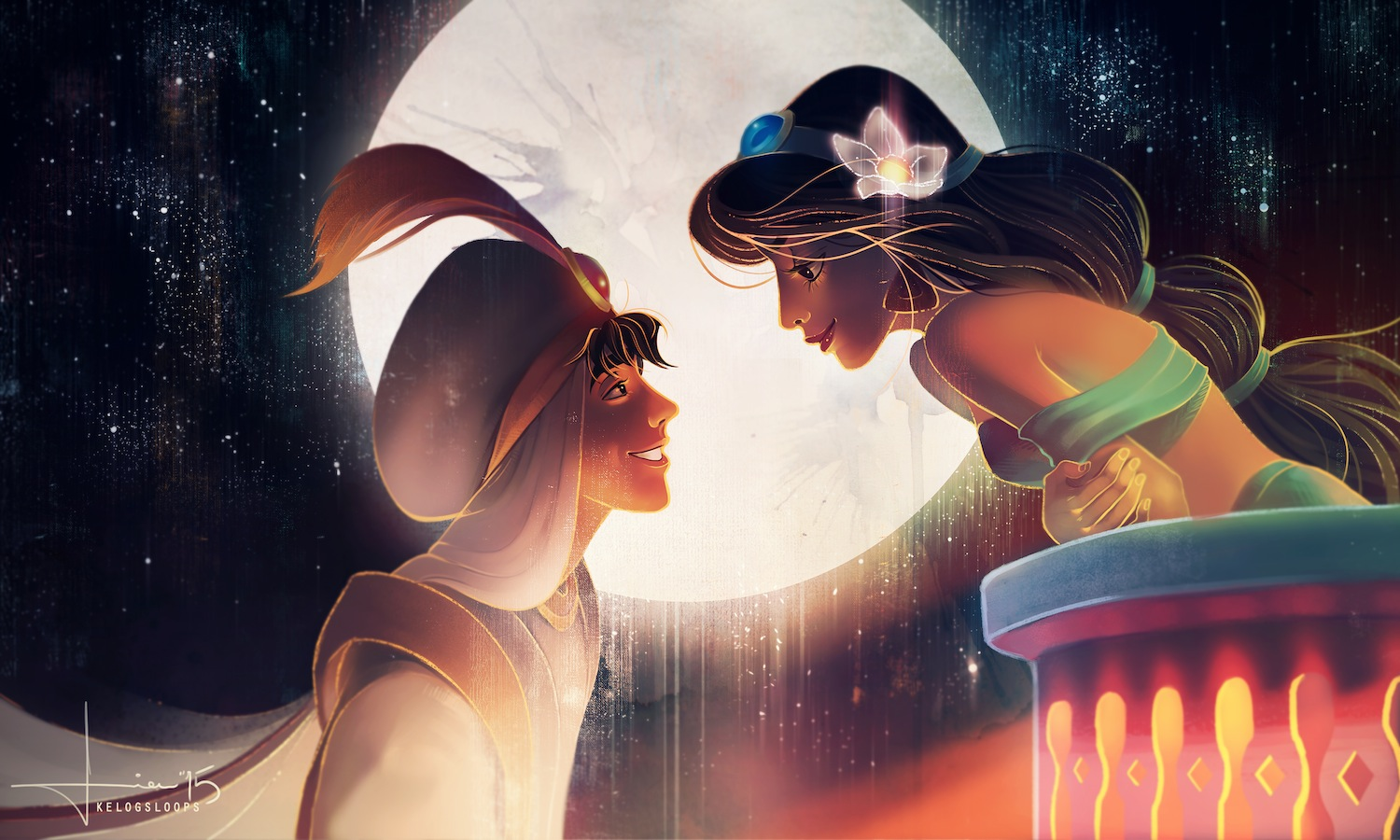 Artist Captures Disney's Most Romantic Scenes - The GCE