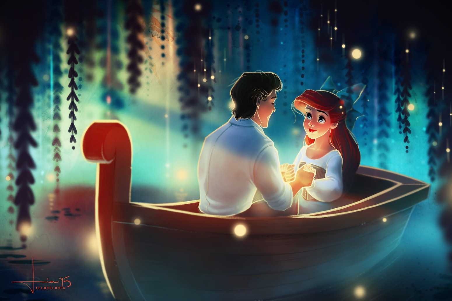 Artist Captures Disneys Most Romantic Scenes The Gce