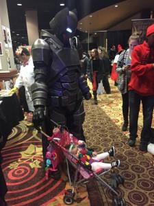 Armored Batman (on diaper duty!)