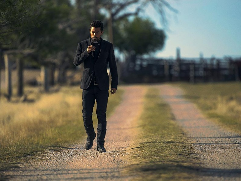 Dominic Cooper as Jesse Custer; single - Preacher _ Season 1, Episiode 1 - Photo Credit: Lewis Jacobs/AMC