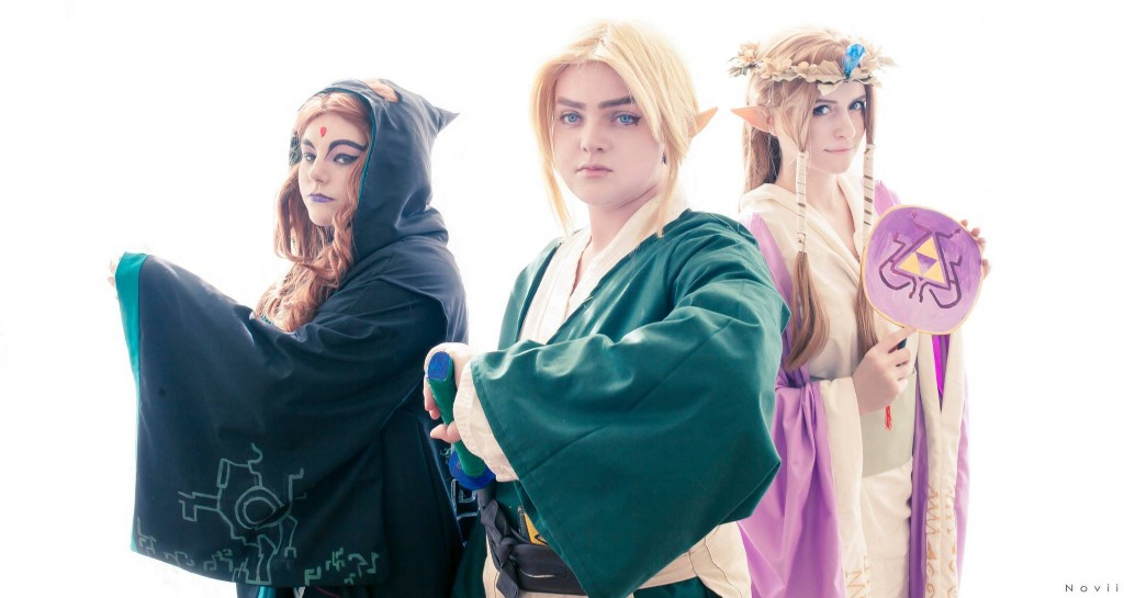 Legend of Zelda Kimono Group  Midna: Dream Cherub Cosplay  Link: Suspence Cosplay  Zelda: Amaleigh