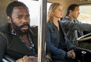 Colman Domingo as Victor Strand, Kim Dickens as Madison Clark; group†- Fear the Walking Dead _ Season 3, Episode 11 - Photo Credit: Richard Foreman, Jr/AMC