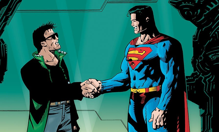 Not exactly a superhero team-up.